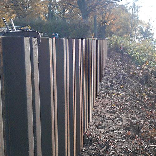 Larson Steel Retaining Wall